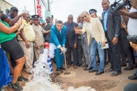 St. Elizabeth Communities Receive First Ever Flow of Piped Water